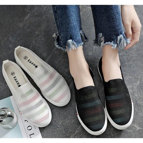 Giày lười vải nữ phong cách hàn quốc sành điệu GN03