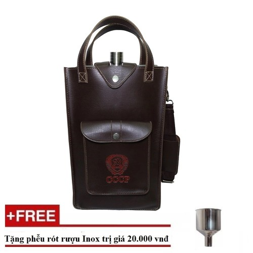 Bộ 1 bình đựng cccp inox dày 0,6 dung tích 5 lít bao gồm cả túi đựng bình tặng phễu asisi