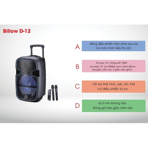 Loa Kéo Tay Bluetooth BILLOW D-12 Nghe nhạc, Hát Karaoke - 7094220 , 17000506 , 15_17000506 , 2960000 , Loa-Keo-Tay-Bluetooth-BILLOW-D-12-Nghe-nhac-Hat-Karaoke-15_17000506 , sendo.vn , Loa Kéo Tay Bluetooth BILLOW D-12 Nghe nhạc, Hát Karaoke