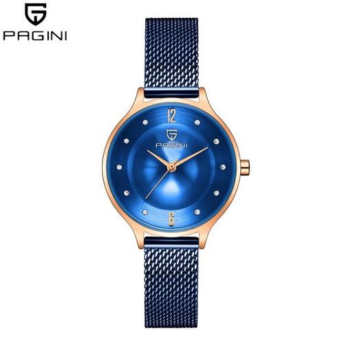 Đồng hồ NỮ PAGINI2188X dây lưới xanh mặt xanh - FULL BOX