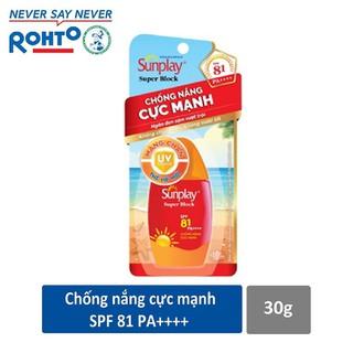 Sữa chống nắng Sunplay cực mạnh Sunplay Super Block SPF 81, PA++++ 30g - RMV-S17-SB
