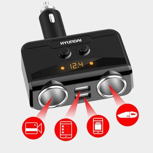 Bộ chia tẩu sạc ô tô Hyundai 2 Cổng USB - 7116692 , 17017223 , 15_17017223 , 500000 , Bo-chia-tau-sac-o-to-Hyundai-2-Cong-USB-15_17017223 , sendo.vn , Bộ chia tẩu sạc ô tô Hyundai 2 Cổng USB