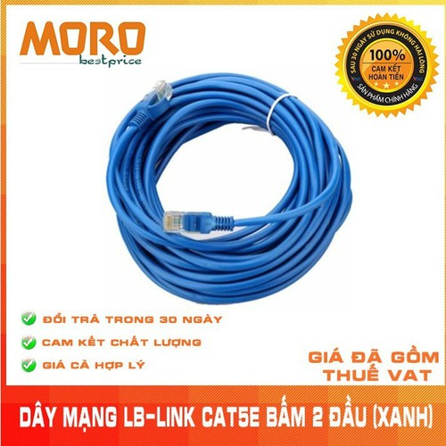 Đoạn dây cáp mạng LB-LINK Cat5E 30m Xanh hoặc Trắng - Chính hãng - 7088654 , 16995879 , 15_16995879 , 135000 , Doan-day-cap-mang-LB-LINK-Cat5E-30m-Xanh-hoac-Trang-Chinh-hang-15_16995879 , sendo.vn , Đoạn dây cáp mạng LB-LINK Cat5E 30m Xanh hoặc Trắng - Chính hãng