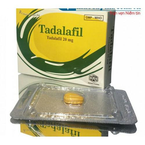 Viên uốngTadalafil 20mg đặc trị liệt dương rối loan sinh lý nam