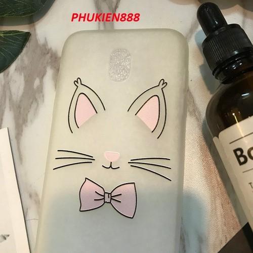 Ốp lưng Samsung J3 pro silicone mờ hình râu mèo