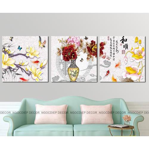 tranh treo tường - tranh lọ hoa nghệ thuât