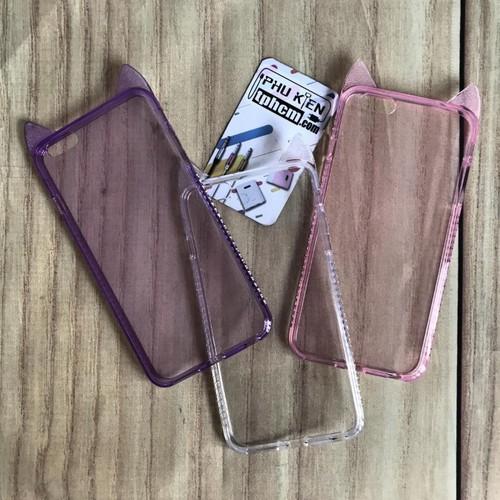 Ốp lưng iPhone 6 Plus - 6s Plus dẻo Trong đính đá - 4619971 , 17005820 , 15_17005820 , 40000 , Op-lung-iPhone-6-Plus-6s-Plus-deo-Trong-dinh-da-15_17005820 , sendo.vn , Ốp lưng iPhone 6 Plus - 6s Plus dẻo Trong đính đá