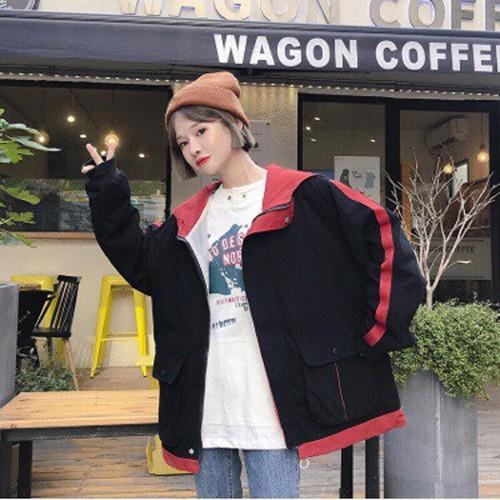 Áo khoác kaki phối túi 1 sọc dọc tay phong cách Hàn Quốc, đẹp và rẻ