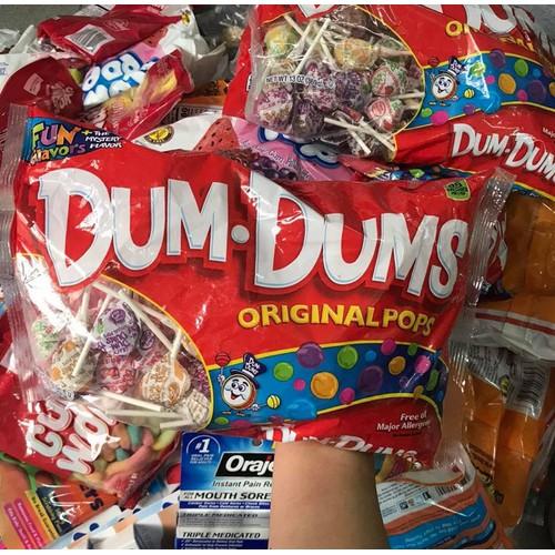 Kẹo mút trái cây Dum Dums Original Pops 369g