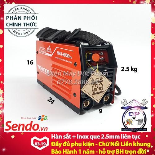 Máy hàn điện tử mini BTEC MMA-200E Pro - Máy hàn que mini - Công Ty - 7085853 , 16994614 , 15_16994614 , 1249000 , May-han-dien-tu-mini-BTEC-MMA-200E-Pro-May-han-que-mini-Cong-Ty-15_16994614 , sendo.vn , Máy hàn điện tử mini BTEC MMA-200E Pro - Máy hàn que mini - Công Ty