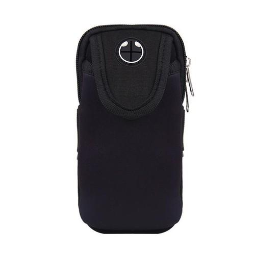 Túi đeo tay đựng điện thoại chạy thể dục đa năng phối màu thể thao màu đen TDT12