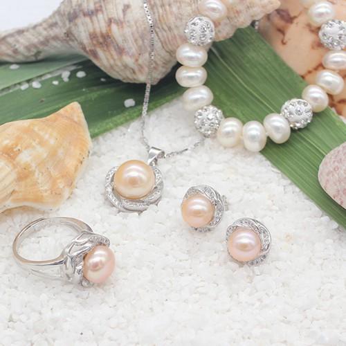 Bộ Trang Sức Bạc Bảo Ngọc Jewelry Ngọc Trai Pearl T4-Cam