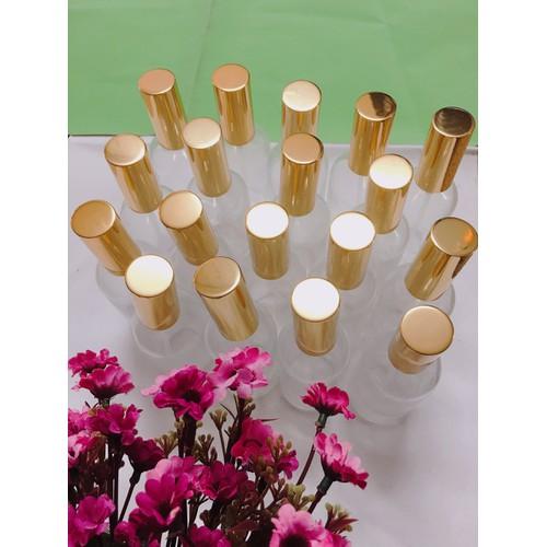 Combo 10 lọ đựng thủy tinh trắng trong dạng xịt 100ml nắp vàng