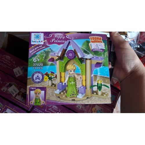 Đồ chơi trẻ em lắp ráp khu vườn elsa dành cho bé gái
