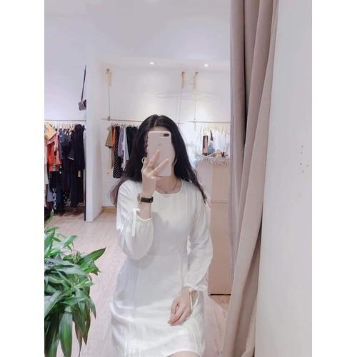 Đầm đơn giản tay buộc nơ