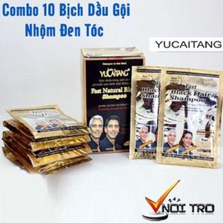 ComBo 10 Gói Dầu Gội Nhuộm Tóc Đen YuCaiTang - Cam Kết Chính Hãng - DH35 thumbnail