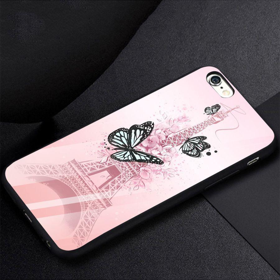 Ốp kính cường lực dành cho điện thoại iPhone 6 - 6s - bướm - buom012