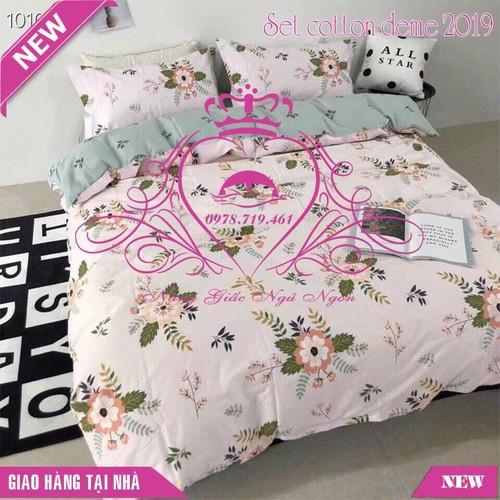 Bộ chăn ga gối đệm cotton Demi 2019 mẫu 3