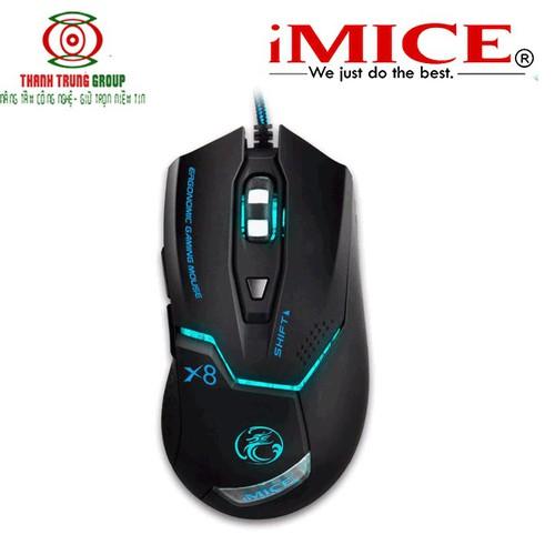 Chuột chơi game IMICE X8 7 màu