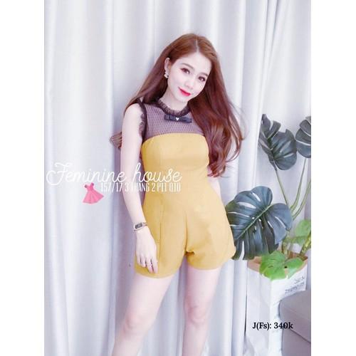 Jumpsuit nữ ngắn trẻ trung nhẹ nhàng