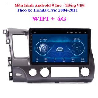 Màn hình Android 9 Inc WIFI + 4G theo xe Honda Civic 2004-2011 - HL 1170 thumbnail