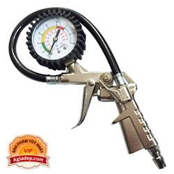 Đầu vòi bơm oto xe máy + Kiêm đồng hồ đo áp suất lốp - Hàng xịn nhập khẩu của Agiadep