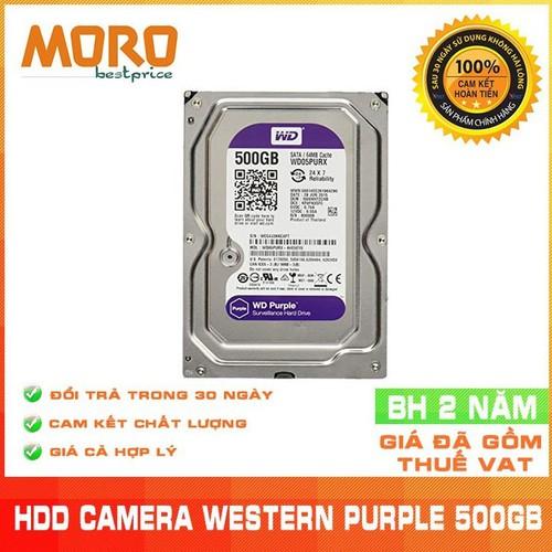 Ổ cứng camera HDD 500GB WD Purple - Nhập khẩu từ Nhật Bản, Hàn Quốc- Bảo hành 24 tháng 1 đổi 1