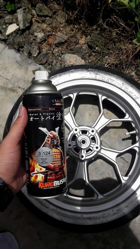 124 _ Chai sơn xịt sơn xe máy Samurai 3-124 màu bạc _ Silver _  Shop uy tín, giao nhanh, giá rẻ _ Best Seller - Giàu 0911199996 - www.phutunguytin.com  2