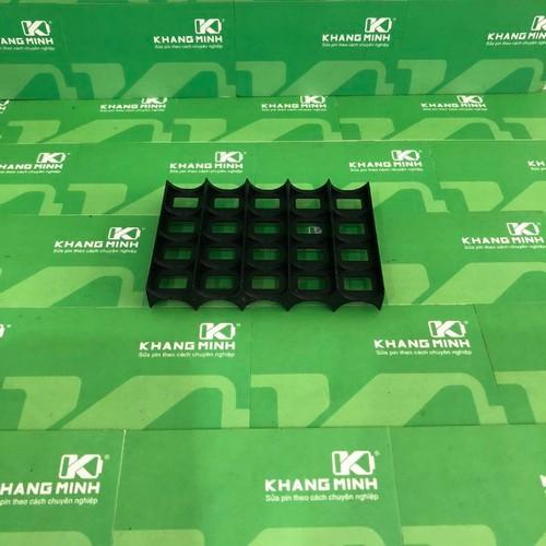 KM Đế ngăn pin 18650,  loại 5 pin 2 hàng, 5s-2p.