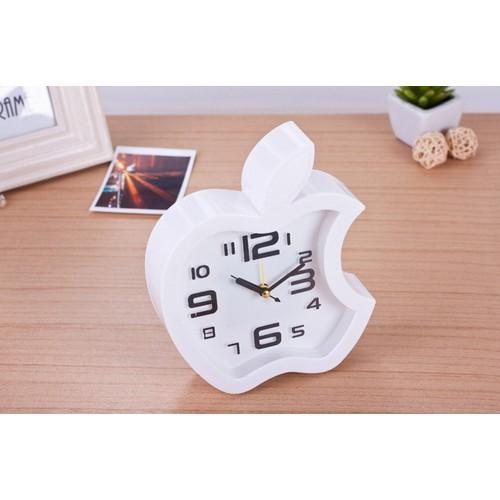 Đồng hồ để bàn hình trái táo với thiết kế nhỏ gọn dễ mang theo xem giờ rất tiện