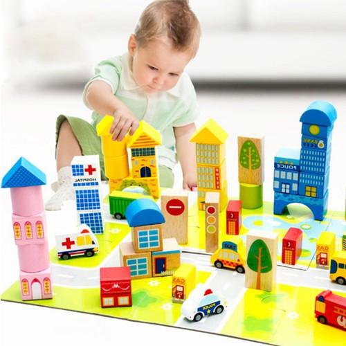 Bộ đồ chơi lắp ghép mô hình thành phố bằng gỗ 62 chi tiết - 7133968 , 17025780 , 15_17025780 , 289000 , Bo-do-choi-lap-ghep-mo-hinh-thanh-pho-bang-go-62-chi-tiet-15_17025780 , sendo.vn , Bộ đồ chơi lắp ghép mô hình thành phố bằng gỗ 62 chi tiết