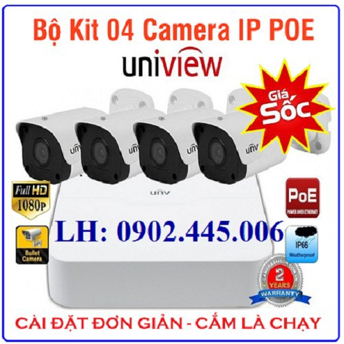 TRỌN BỘ  KIT 4 Camera IP 2.0MP Full HD 1080P UNV PoE - 7154121 , 17037362 , 15_17037362 , 4200000 , TRON-BO-KIT-4-Camera-IP-2.0MP-Full-HD-1080P-UNV-PoE-15_17037362 , sendo.vn , TRỌN BỘ  KIT 4 Camera IP 2.0MP Full HD 1080P UNV PoE