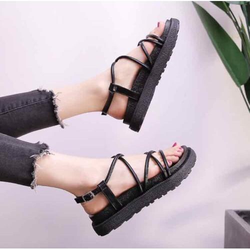Giày sandal nữ đế bánh mì dây đan đen hồng - 7175506 , 17047609 , 15_17047609 , 150000 , Giay-sandal-nu-de-banh-mi-day-dan-den-hong-15_17047609 , sendo.vn , Giày sandal nữ đế bánh mì dây đan đen hồng
