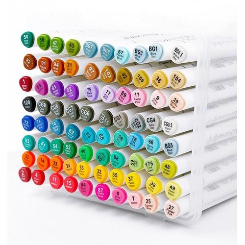 [MUA 1 ĐƯỢC 5] Bút Marker TOUCH SOFT HEAD Hộp 7 Hộp Nhựa-40 Màu
