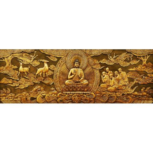 Tranh in canvas VTC Phật UD0105B1 không khung kt 100 x 35 cm
