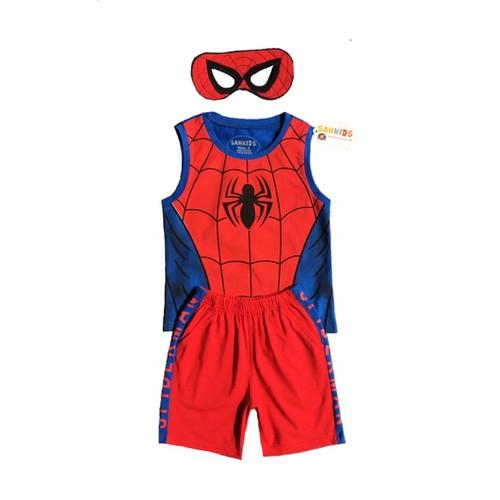 Bộ sát nách siêu nhân người nhện kèm mặt nạ cho bé trai - 7159978 , 17040348 , 15_17040348 , 140000 , Bo-sat-nach-sieu-nhan-nguoi-nhen-kem-mat-na-cho-be-trai-15_17040348 , sendo.vn , Bộ sát nách siêu nhân người nhện kèm mặt nạ cho bé trai