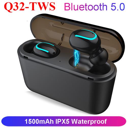 Tai Phone Bluetooth V5.0 TWS-Q32 - Có micro đàm thoại 2 bên tai