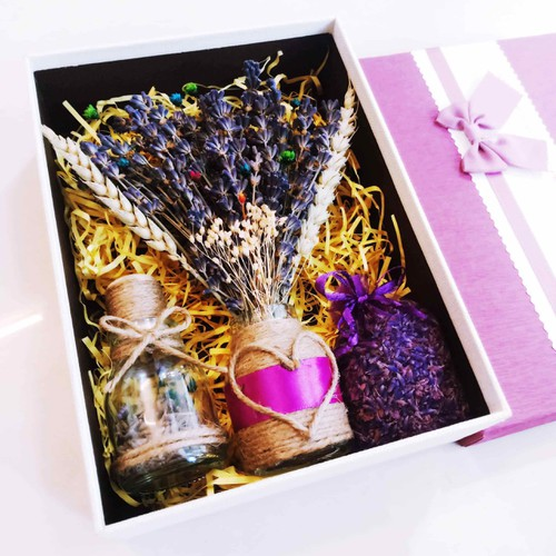 Hộp lọ hoa Lavender Oải hương Pháp 08