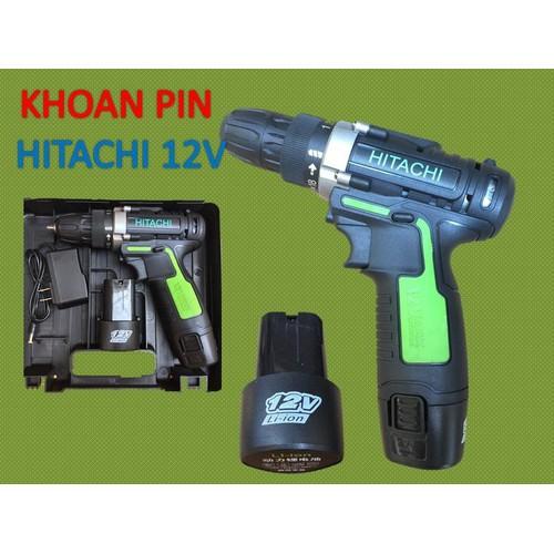 Máy Khoan Pin-HTC 12V -khoan tường, sắt , gỗ -DODACO DDC3249