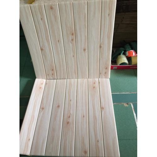 COMBO 10 TẤM Xốp dán tường giả gỗ 3D