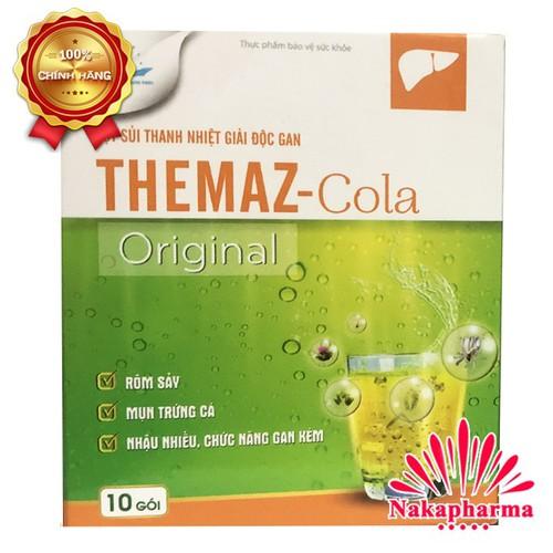 ❤ Themaz Cola Original hương cam - Bột sủi thanh nhiệt giải độc mát gan, giúp giảm nóng trong người