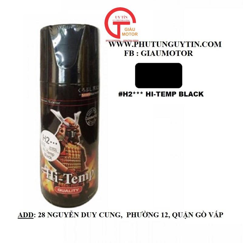 H2 _ Chai H2 Chịu nhiệt màu đen mờ sơn pô chống cháy 12
