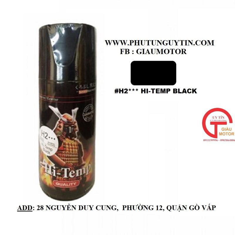 H2 _ Chai H2 Chịu nhiệt màu đen mờ sơn pô chống cháy 13