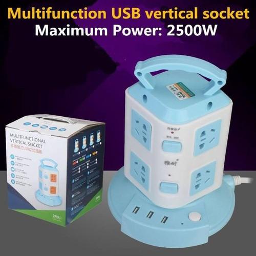 Ổ Cắm Điện 2 Tầng Đa Năng 1M8 Tích Hợp 3 Cổng USB
