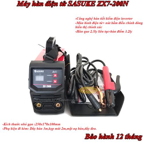 Máy Hàn Que Inverter Mini SASUKE ZX7-200N-Hàng Chính Hãng-Bảo Hành 12 Tháng