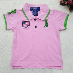 G61-M1-Áo bé gái, POLO, có tay, màu hồng , mivn, size CHO BÉ 13-17KG