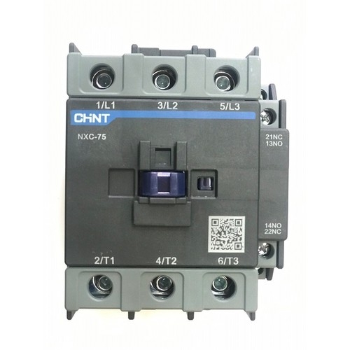 102083--CONTACTOR 220VAC 75A _CHINT NXC-75 _37KW:1NO+1NC