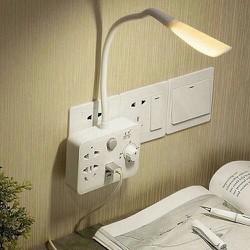 Ổ điện đa năng kèm đèn ngủ và chân cắm USB có chiết áp chỉnh độ sáng