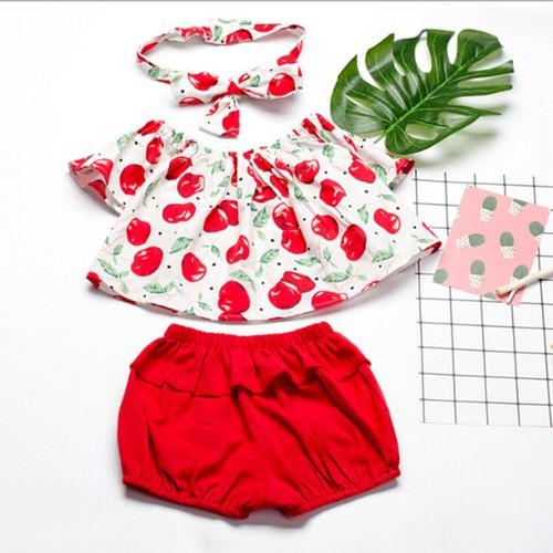 BT33315 - Set áo và quần ngắn bé gái - 200k