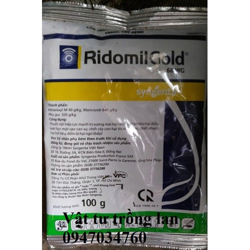Thuốc trừ nấm RidominGold - Ridomin
